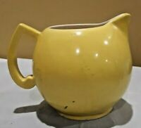 Vintage Mid-Century Yellow Creamer Small Pitcher Made in Czechoslovakia