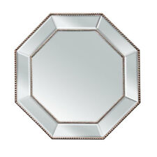 Silver Beaded Hex Wall Mirror 78cm