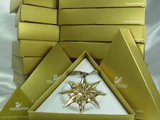 SWAROVSKI LOT OF 10 SCS ORNAMENT 2009, GOLDEN SHADOW MIB #1026761