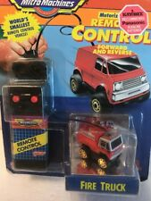 MICRO MACHINE INCLUDING REMOTE CONTROL FIRE TRUCK - Rare - New Sealed