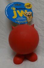 New NWT Dog Puppy Toy JW Pet Bad Cuz Ball Large Red Squeaks Heavy Duty