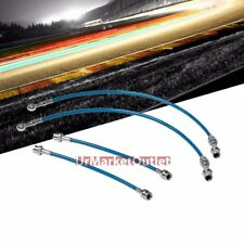 Blue Front+Rear Stainless Steel Hose Brake Line Kit for Nissan 89-94 Maxima GXE