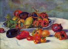 "RENOIR ~ Still Life with Fruit 1881 ~ A4 CANVAS PRINT 8""X 12"""