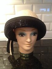 Adele Claire Vintage Ivory And Black Hat