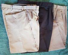 Lot 3 Men's DOCKERS Kirkland SAVANE Khaki & Black SLACKS Pants 40 x 30 EUC