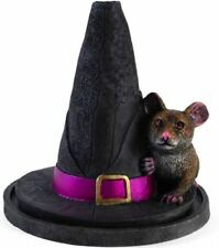 """Witches Hat with Mouse Incense Cone Holder by Lisa Parker 5"""" Tall"""