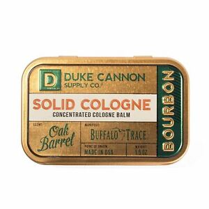 Duke Cannon Supply Co. - Solid Cologne Balm, Bourbon (Buffalo Trace Bourbon Frag