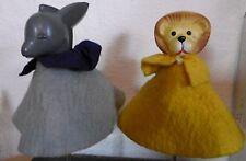 2 x dedos-mano muñecas burro & león Baby RDA arena hombre & sus Amigos juguetes
