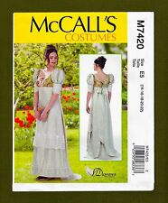 Empire Waist Floor Length Dress Sewing Pattern (Sizes 14-20) McCalls 7420