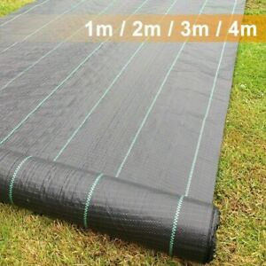 Heavy Duty Weed Control Fabric Membrane Ground Cover Mat Garden Landscape 100gsm