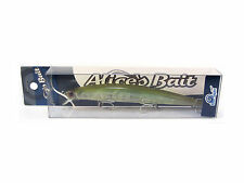"NEW LONG JERK ""ALICE'S BAIT"" MINNOW 140 SLIM SINKING COLOR: GREEN SHAD"