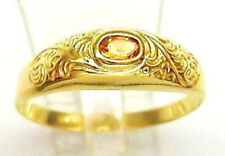 ღ Nice ღ in aus 333 8kt. Gold Ring mit Citrin Edelstein Ring Unisex Ring citrine