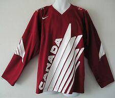 New listing nwt~Nike IIHF CANADA TWILL OLYMPICS Hockey Top 3RD Jersey Away Shirt~Mens Medium