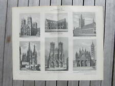 Antique print architecture architectuur bouwkunde 1902