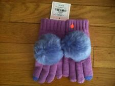 JUICY COUTURE GIRL'S PURPLE POM POM TEXTING GLOVES ORG. $48.00 ONE SIZE BNWT