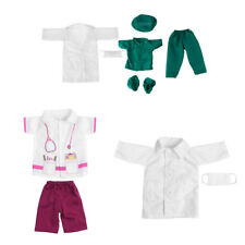 7 Sets Doctor Nurse Doll Clothes Outfit for 18In Our Generation Dolls Kids Gift