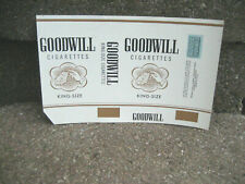 Vintage Goodwill Cigarette Tobacco Packaging Label