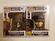 Funko Pop 77 & 78 Notorious B.I.G. Bundle w/ protectors