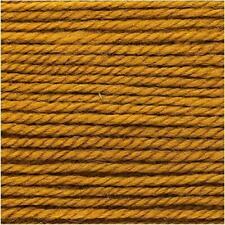RICO ESSENTIALS MERINO DK knitting wool shade 70 mustard