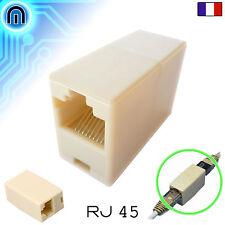Adaptateur Rallonge Ethernet RJ45 Raccord Réseau Commutateur Femelle F/F LAN