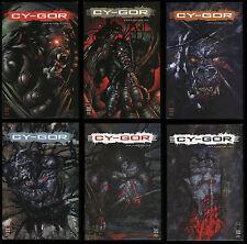 Cy-Gor Comic Full Set 1 2 3 4 5 6 Lot Todd McFarlane Cyborg Terminator Gorrila