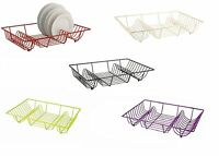 Metal Dish Drainer Metal Wire Plate Stand Sink Top Dish Draining Rack Kitchen