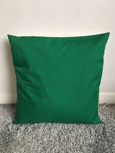 """NEW 10"""" PLAIN EMERALD GREEN CUSHION COVER PILLOW BED SOFA MORE COLOURS SIZES"""