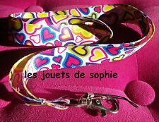 coeur TOUR COU cordon paix amour love porte clef Badge KEYCHAIN clef lanyard