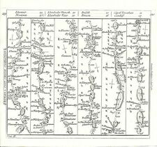 Antique map, The Road from Chester to Cardiff