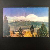 Vintage 1944 Postcard Mt. Shasta, California Shasta City CA Wesco Color Card