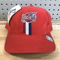 Vintage Houston Rockets NBA Basketball Logo Athletic Snap Back Cap NWT Red Hat