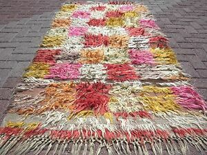 "Anatolian Turkish Antalya Nomads Shaggy Rug Mohair Carpet Long Hair 41,7""x80,3"""
