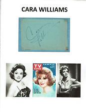 CARA WILLIAMS - Actress - Pete & Gladys / The Defiant Ones Oscar Nom - Autograph