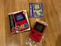 GameBoy Color Nintendo GBC Japan Console Handheld CGB001 RED Boxed w/Manual
