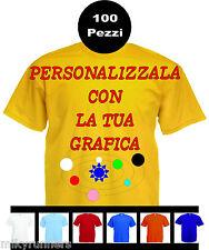 100 Magliette T-shirt Gialle Personalizzate con le vostre scritte loghi fotoetc.