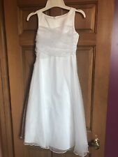 BONNIE JEAN White Formal, Communion, Flower Girl's Dress Size 8  MINT!