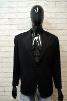 PIZZO FATTO Uomo 48 Giacca Sartoriale Nera Blazer Lana Jacket Man Made in Italy