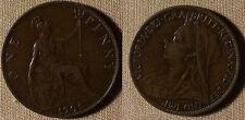 Great Britain : 1901 Pence Vf-Xf #790 Ir2544