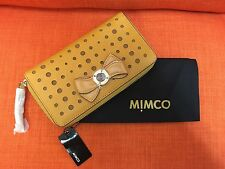 MIMCO BOW LEATHER WALLET WITH DUSTBAG BRAND NEW 100% AUTHENTIC