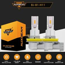 2X AUXBEAM H11 H9 H8 CREE LED Projector Fog Driving Light Bulbs 3000K Yellow HID