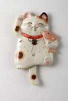 Bring happiness cat SETO ware porcelain Manekineko wall pendulum clock Japanese