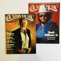 Lot of 2 Country Music Mags-KENNY ROGERS JanFeb'88 + HANK WILLIAMS Jr. SepOct'86