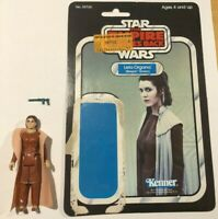Star Wars Vintage Princess Leia Bespin COMPLETE w/RARE CARDBACK PLASTIC BACKING