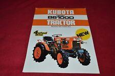 Kubota B6100D Tractor Dealer's Brochure YABE15