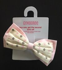 NWT Gymboree Park City Luxe Pink Ivory Floral Bow Barrette Hair Accessory