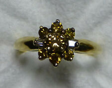 18K Yellow Gold Argyle Mine Untreated Yellow and White Diamond Ring 0.51 CTW