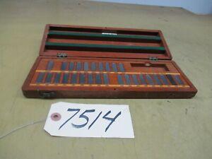 Webber Wafer Type Gage Block Set (CTAM #7514)