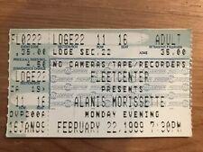 Alanis Morissette Garbage Concert Ticket Stub 2/22/99 Boston Ma