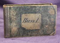 Bass Regensburger Liederkranz Sammlung ausgewählter vierstimmiger Lieder 1880 js