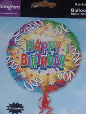 "18"" FOIL BALLOON HAPPY BIRTHDAY PRISMATIC HOLO GRAPHIC"